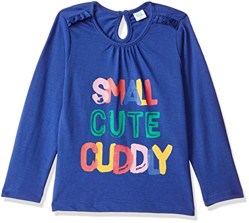 MINI KLUB Baby Girls'Plain Regular Fit T-Shirt (910103F_Blue_6-12M)