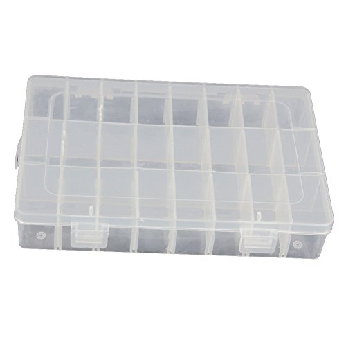 Hosaire 24 Raster Kunststoff Jewelry Box Organizer Container Fall mit Abnehmbarem Dividers,Adjustable (Abnehmbare Pille Fall)