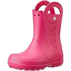 Crocs Handle It Rain Boot, Unisex Niños Bota, Rosa (Candy Pink), 25-26 EU