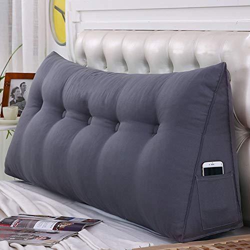 WENZHE Kopfteil Kissen Bett Rückenkissen Rückenlehne Für Bett Bettkeile Keilkissen Palettenpolster Softcase Sofa Zuhause Waschbar, 6 Farben (Farbe : 5#, größe : 100×50cm)