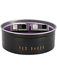 TED BAKER Cufflinks In Tin Black Grey Gilford Cuboid Bar