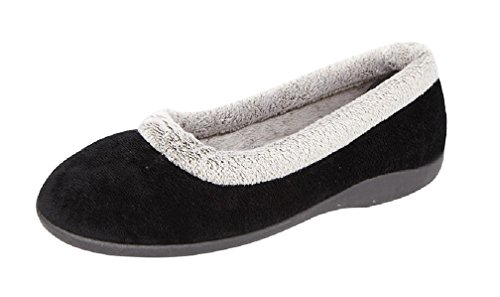 Sleepers, Pantofole donna Black Velour