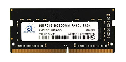 Adamanta 8GB (1x8GB) Laptop Memory Upgrade DDR4 2666MHz PC4-21300 SODIMM 1Rx8 CL19 1.2V Notebook RAM DRAM