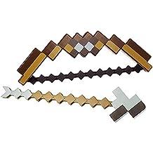 Zantec Juguetes para Minecraft para Niños Regalos-2 en 1 Creative Transmutative Bow Sword Armas