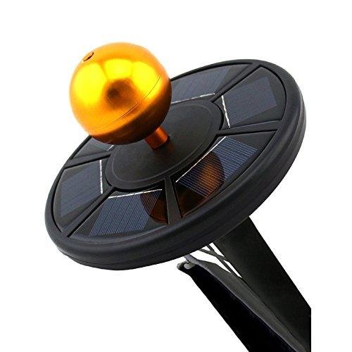 Myfei Led-Solar-Licht Für Fahnenmast Mit 26 Leuchten, Wetterfest, Fahnenstangen-Deckenleuchte Für Den Außenbereich, Sicherheitslicht Für Nachtbeleuchtung, Schwarz -