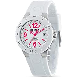 Sector Men's Quartz Watch with White Dial Analogue Display and White PU Strap R3251111003