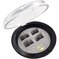 Minions Boutique Magnetic False Eyelashes, 1/2/3 Magnets Magnetic False Eyelashes Natural Look No Glue False Lashes, 8 PCS/2 Pairs 3D Ultra Thin Reusable False Lashes