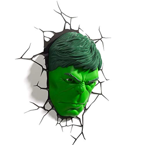 3D Hulk luz de pared Luz de noche, Pegatinas de pared, Niño, Niña, Dormitorio...