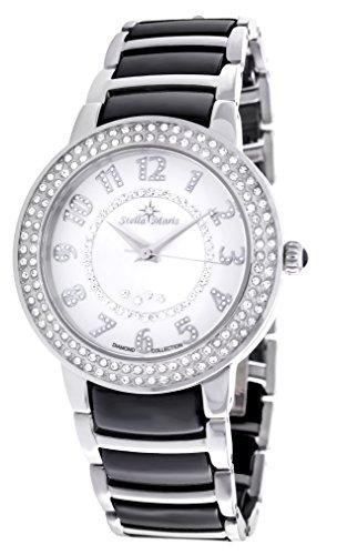 Stella Maris STM13G462 - Reloj de cuarzo con correa de cerámica para mujer, color blanco