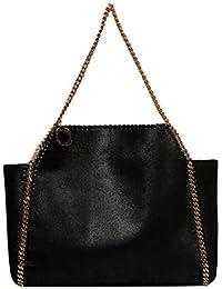 a39c5b95ddf22 Stella Mccartney Women s 507185W83791000 Black Synthetic Fibers Handbag