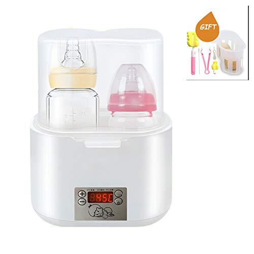 LYXCM Babyflaschenwärmer, Flaschendampfsterilisator LED-Anzeige Schneller Flaschenwärmer Speisewärmer Warme Muttermilch Formel Hitze Essen Auftauen Viel Funktion