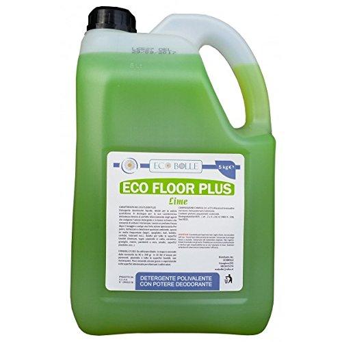 Ecobolle detersivo per pavimenti professionale igienizzante, eco floor plus lime
