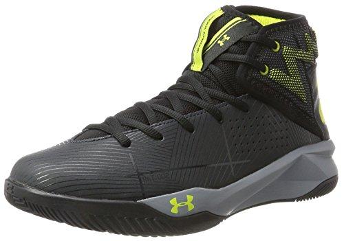 Under Armour UA Rocket 2, Zapatos de Baloncesto para Hombre, Negro (Anthracite), 41 EU