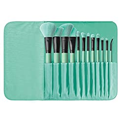 BR-SET-040 Brush Affair Collection 12 Piece Brush Set, Minty Green