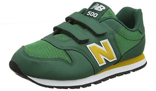 New Balance Unisex-Kinder 500 Sneaker, Grün (Team Forest Green/Varsity Gold Yg), 31 EU