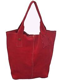 BAG1 - Bolso serraje afelpado rojo
