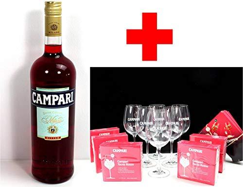 Campari Gläser Tocco Rosso 6er Set + 1,0l Gastroflasche inkl. 25 Tischaufsteller 250 Servietten ~mn 266 7i1r+