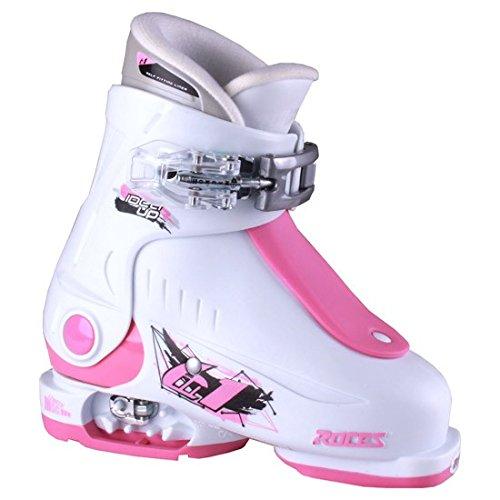 Roces Kinder Idea UP 16.0-18.5 Kinderskischuh-Verstellbar, White-Deep Pink, 25-29