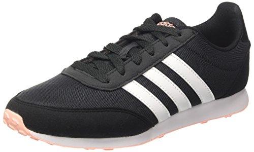 adidas Damen V Racer 2.0 Laufschuhe, Grau (Carbon/Core Black/Haze Coral 0), 38 EU (Adidas Herz)