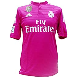 adidas WC Real A JSY - Camiseta unisex, color rosa / blanco, talla M