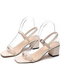Donyyyy Zapatos de mujer sandalias de verano,Beige,38