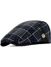 KDFLGE cappello Cappello da Donna con Cappellino da Plaid da Uomo Adulto di Berretto  da Uomo 9c0d7d318451