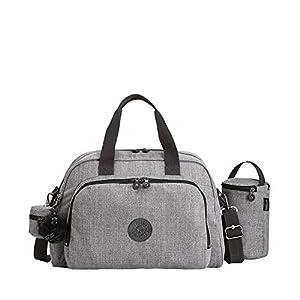 41RvKOAnF%2BL. SS300  - Kipling Camama, Bolso mochila para Mujer, Plateado (Mistic Pearl), 15x24x45 cm (W x H x L)