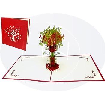 Lin De Fleur Pop Up Cartes Cartes Cartes De Remerciement