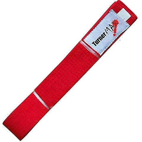 TurnerMAX Bouclier de frappe boxe Karaté Judo Ceintures Ceinture Arts Martiaux Kick Taekwondo Kung Fu GI Karaté Convient Formation 280cm rouge Red 28cm Red 28cm