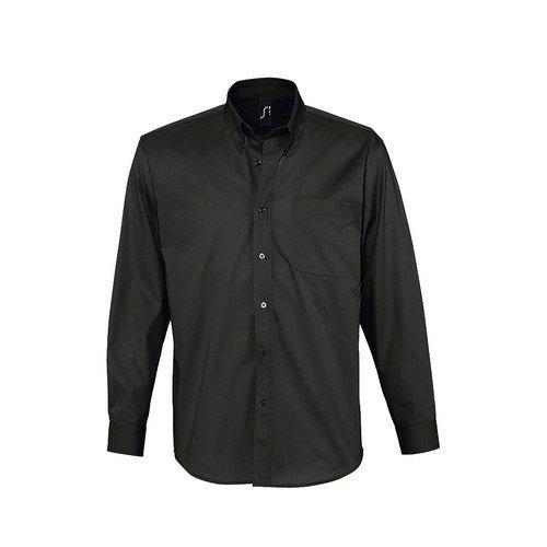 SOLS Herren Bel-Air Hemd / Arbeitshemd, Langarm (Medium) (Schwarz)