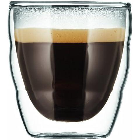 Bodum 11477-10 Pilatus - Set 2 bicchieri in vetro a doppia parete, 0,08 l