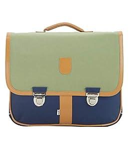 Bagtrotter MSNI10KAKI Miniseri - Bolsa Escolar (39,5 x 16 x 33 cm), Color Azul Marino y Caqui