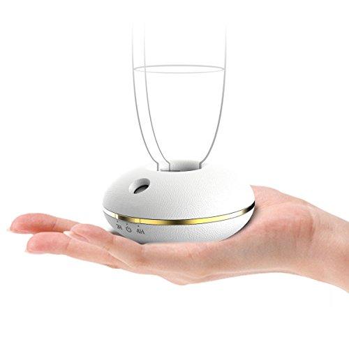 Fancii Mini Umidificatore Personale Cool Mist – Dispositivo per Umidificazione Portatile da Viaggio con Alimentazione USB o a Batteria per l'utilizzo con Acqua in Bottiglia