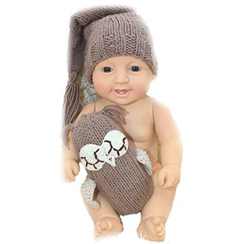 NROCF Eule Spielzeug Fotografie Set, Neugeborenes Baby Mädchen/Jungen häkeln Kostüm Fotografie Prop Hüte und Outfits