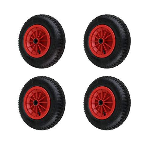 4 Stück 4.80/4.00-8, 400mm Schubkarrenräder Schubkarre Rad Wagen Räder Reifen (Wagen-räder Reifen Und)