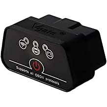 Vgate iCar2 Bluetooth OBD II (ARM Based) Auto Diagnostic Tool with Power Switch for Android Devices (Black)