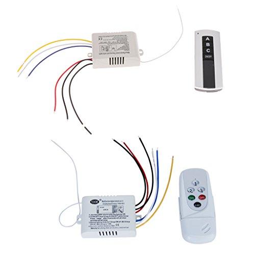 3WayON/OFF 220V-240V Luz Digital Inalámbrico Interruptor