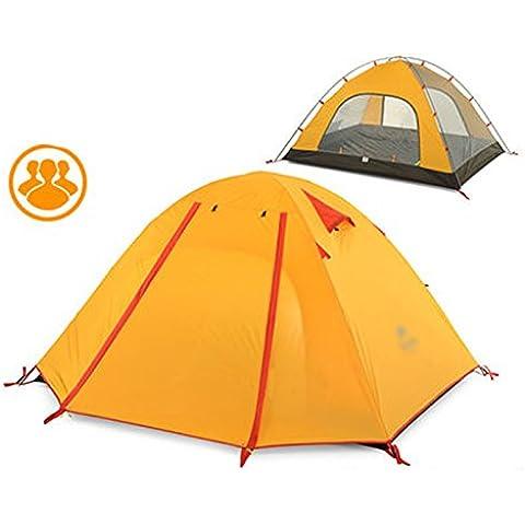 Tienda de campaña al aire libre 3 poste de aluminio Carpa Doble viento y la lluvia camping tienda de campaña ( Color : C )