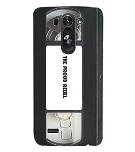 ColourCraft Retro Video Cassette Design Back Case Cover for LG D722 K