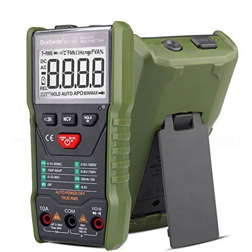 168C Escaneo automático Multímetro digital DC Corriente CA Voltaje Corriente Capacitancia Verdadero RMS Probador 6000 Cono Portátil