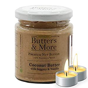 Butters & More Vegan Coconut Butter with Natural Vanilla Extract & Organic Palm Jaggery (200G). No Artificial Flavours. with a Surprise Diwali Gift!