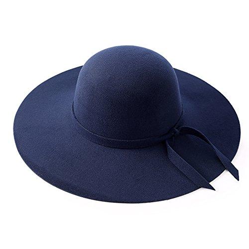 Automne/hiver un chapeaux en laine/Chapeau haut de forme/ rétro Jazz Hat Joker D