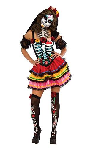 Rubies 2810622S Day of the Dead Seniora, Kostüm für Erwachsene, (Muerte Kostüm)