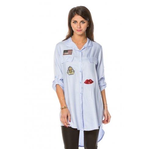 Princesse boutique - Chemise BLEUE à écussons Bleu