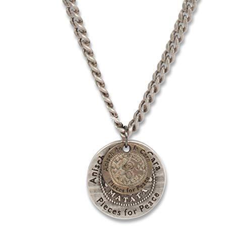 Anisch de la Face Herren-Kette Doppel-Münze - Herren-Kette Hakuna Matata antik Silber, 72 cm lang Hakuna Matata - Kunst Nr. 94480-C (Antik-silber-münzen)