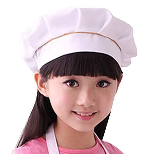 Jungen Mädchen Koch- Hut Chefkoch Bäcker-Küche Kopfbedeckung Geeignet für Küche/Restaurant/Bar/Malen ()