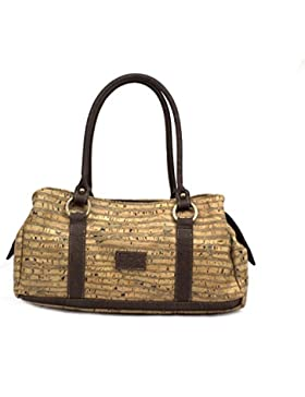 VEGAN HANDBAG FOR WOMAN by Dux Cork GENUINE PORTUGUESE PREMIUM Cork Fabric Leather Fashion ANIMAL FREE Designer