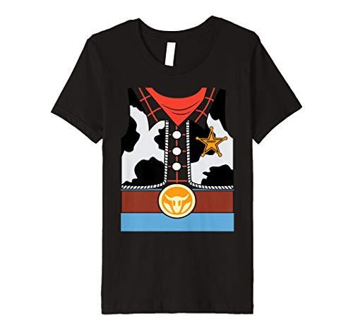 (Kinder Kinder Cowboy Sheriff Halloween einfach Kostüm Outfit Kinder T-Shirt)