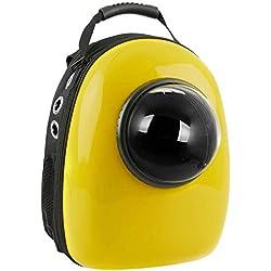 CityBAG - Mochila para transporte de mascotas gato y perro Transportin de plástico rígido amarillo