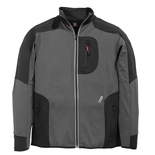 FHB Jersey-Fleece, Ralf, Größe 2XL, anthrazit / schwarz, 78461-1220-2XL